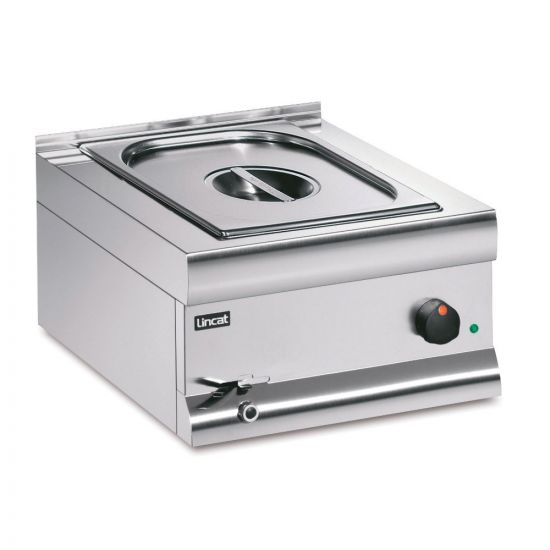 Silverlink 600 Electric Counter-top Bain Marie - Wet Heat - Gastronorms - Base + Dish Pack - W 450 Mm - 1.0 KW LIN BM4CW