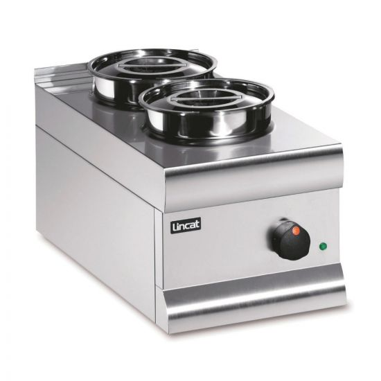 Silverlink 600 Electric Counter-top Bain Marie - Dry Heat - Round Pots - Base + 2 Pots - W 300 Mm - 0.5 KW LIN BS3