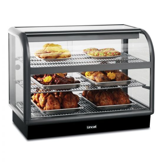 Seal 650 Series Counter-top Curved Front Heated Merchandiser - Back-Service - W 1000 Mm - 2.02 KW LIN C6H-100B
