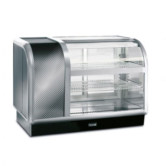Seal 650 Series Counter-top Curved Front Refrigerated Merchandiser - Back-Service - Side-Mounted Power Pack [Left] - W 1050 Mm - 0.6 KW LIN C6R-105BL