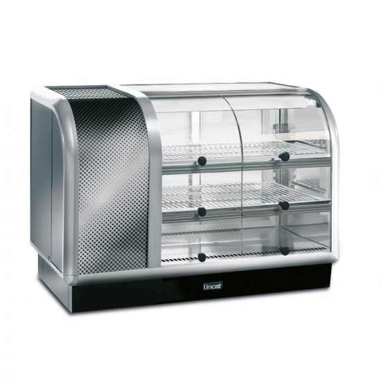 Seal 650 Series Counter-top Curved Front Refrigerated Merchandiser - Self-Service - Side-Mounted Power Pack [Left] - W 1050 Mm - 0.6 KW LIN C6R-105SL