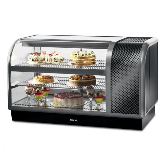 Seal 650 Series Counter-top Curved Front Refrigerated Merchandiser - Back-Service - Side-Mounted Power Pack [Right] - W 1300 Mm - 0.7 KW LIN C6R-130BR