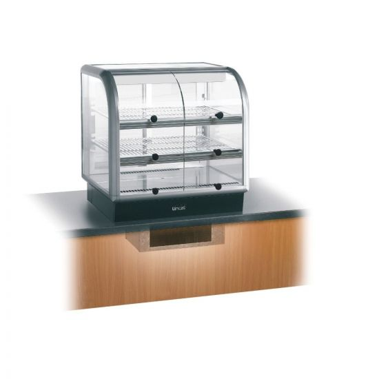 Seal 650 Series Counter-top Curved Front Refrigerated Merchandiser - Self-Service - Under-Counter Power Pack - W 750 Mm - 0.6 KW LIN C6R-75SU