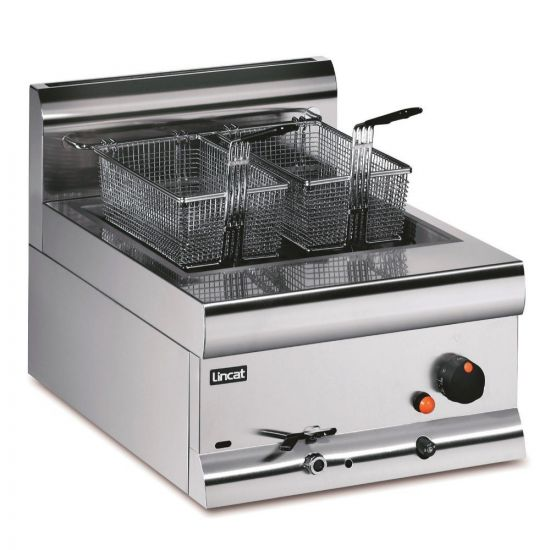 Silverlink 600 Natural Gas Counter-top Single Tank Fryer - 2 Baskets - W 450 Mm - 11.3 KW LIN DF4-N