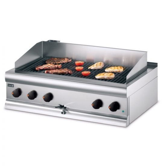 Silverlink 600 Electric Counter-top Chargrill With Water Connection - W 900 Mm - 13.3 KW LIN ECG9-WT