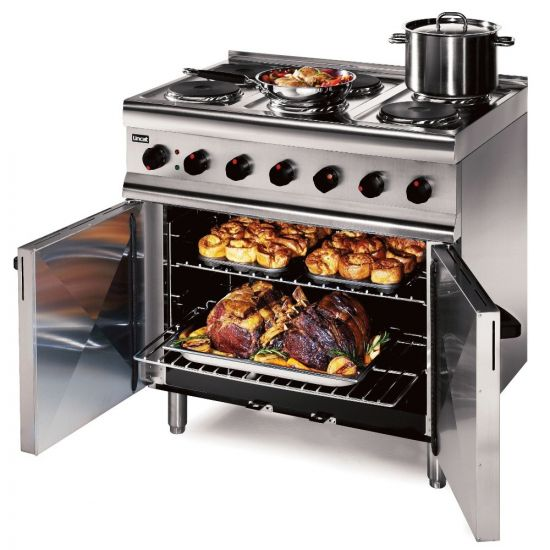 Silverlink 600 Electric Free-standing Oven Range - Castors At Rear - 6 Plates - W 900 Mm - 13.0 KW [1-Phase] LIN ESLR9C-SPH