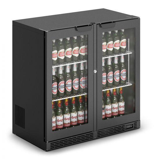 IMC IMCool C90 Bottle Cooler - 206 Bottle Capacity - Black Doors - W 900 Mm - 0.46 KW LIN F82-090-B