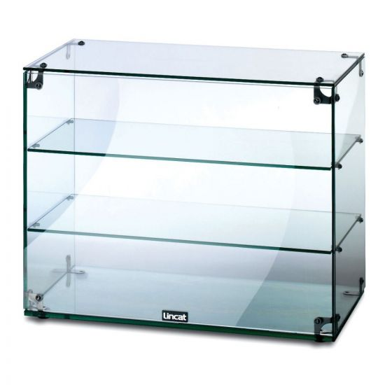 Seal Counter-top Glass Display Case - Open Back - W 607 Mm LIN GC36