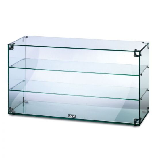 Seal Counter-top Glass Display Case - Open Back - W 907 Mm LIN GC39