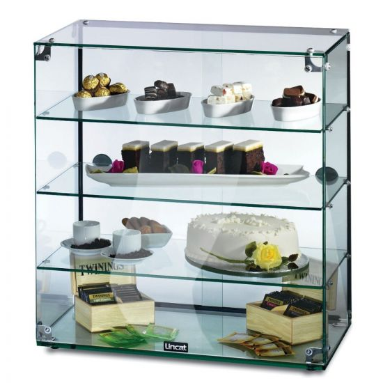 Seal Counter-top Glass Display Case - Rear Sliding Doors - W 607 Mm LIN GC46D