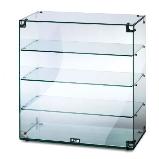 Seal Counter-top Glass Display Case - Open Back - W 607 Mm LIN GC46