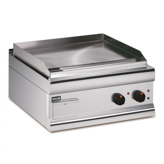 Silverlink 600 Electric Counter-top Griddle - Steel Plate - Twin Zone - Extra Power - W 600 Mm - 5.6 KW LIN GS6-T-E
