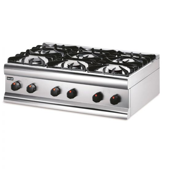 Silverlink 600 Propane Gas Counter-top Boiling Top - 6 Burners - W 900 Mm - 27.0 KW LIN HT9-P