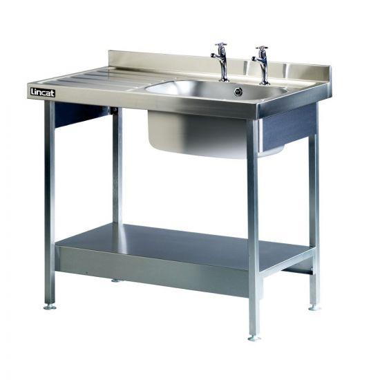 Lincat Built-in Sink Unit - Single Sink - Left-Hand Drainer - W 1000 Mm LIN L881-L-H