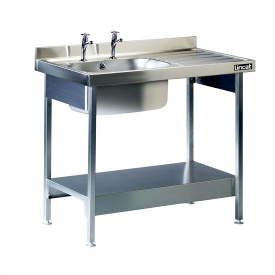 Lincat Built-in Sink Unit - Single Sink - Right-Hand Drainer - W 1000 Mm LIN L881-R-H