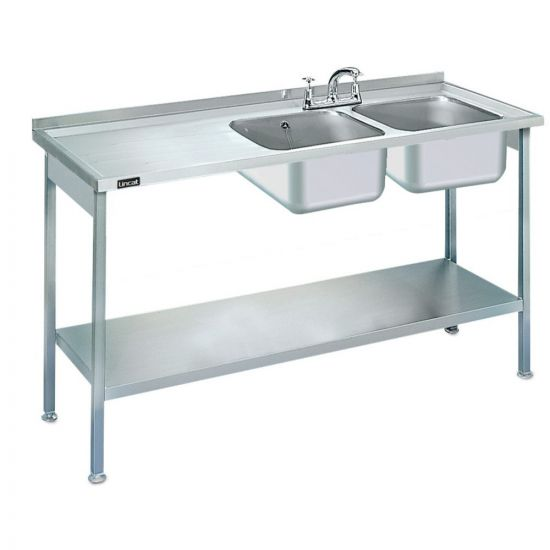 Lincat Built-in Sink Unit - Double Sink - Left-Hand Drainer - W 1500 Mm LIN L884-L-H