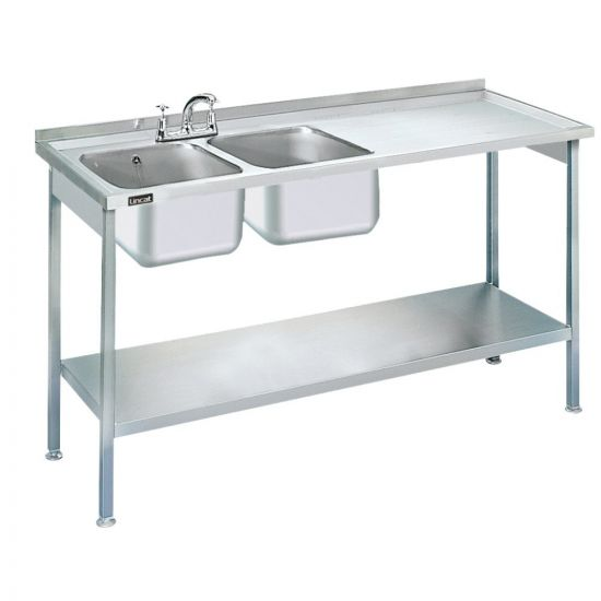 Lincat Built-in Sink Unit - Double Sink - Right-Hand Drainer - W 1500 Mm LIN L884-R-H