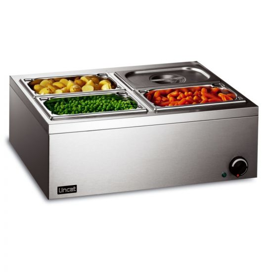 Lynx 400 Electric Counter-top Bain Marie - Wet Heat - Inc. 4 X 1/4 GN Dishes - W 565 Mm - 0.5 KW LIN LBM2W