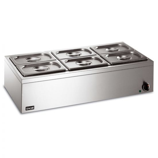 Lynx 400 Electric Counter-top Bain Marie - Wet Heat - Inc. 6 X 1/4 GN Dishes - W 850 Mm - 0.75 KW LIN LBM3W