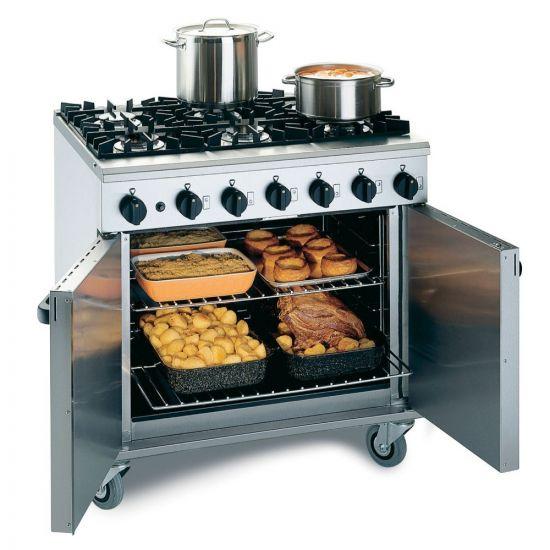 Phoenix Natural Gas Free-standing Oven Range - 6 Burners - W 900 Mm - 35.0 KW LIN LMR9-N