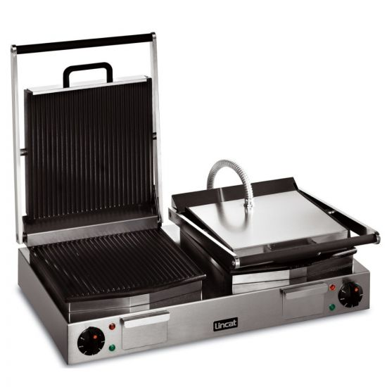 Lynx 400 Electric Counter-top Twin Panini Grill - Ribbed Upper & Lower Plates - W 623 Mm - 4.5 KW LIN LPG2