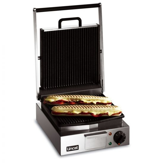 Lynx 400 Electric Counter-top Single Panini Grill - Ribbed Upper & Lower Plates - W 310 Mm - 2.25 KW LIN LPG