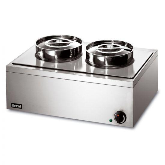 Lynx 400 Electric Counter-top Bain Marie - Dry Heat - Inc. 2 X Round Pots - W 565 Mm - 0.5 KW LIN LRB2