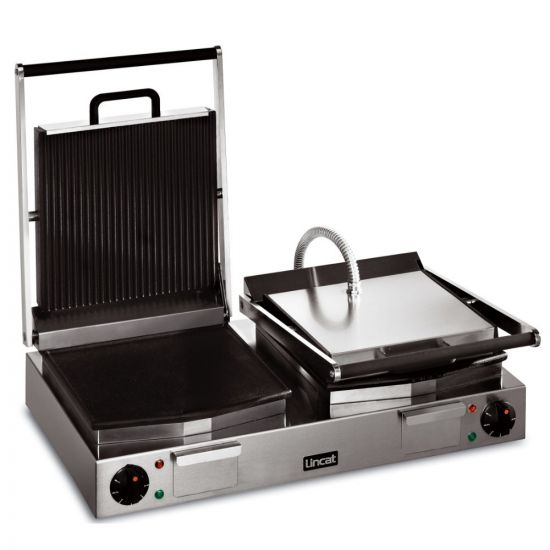 Lynx 400 Electric Counter-top Twin Ribbed Grill - Ribbed Upper & Smooth Lower Plates - W 623 Mm - 4.5 KW LIN LRG2