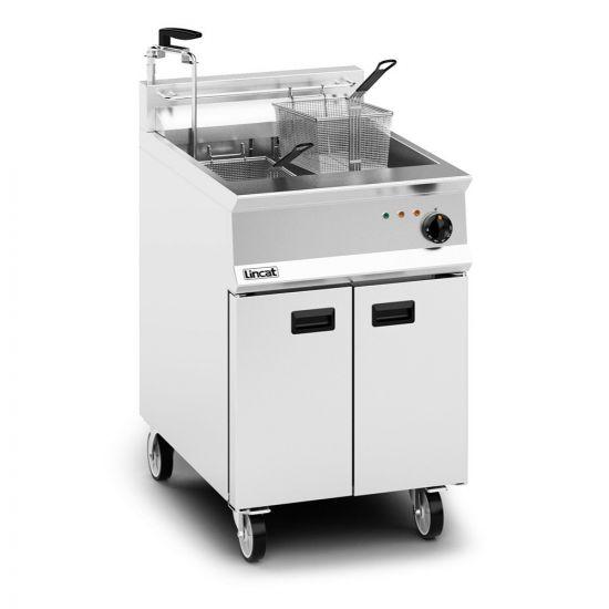 Opus 800 Electric Free-standing Single Tank Fryer With Pumped Filtration - 2 Baskets - W 600 Mm - 22.0 KW LIN OE8108-OP