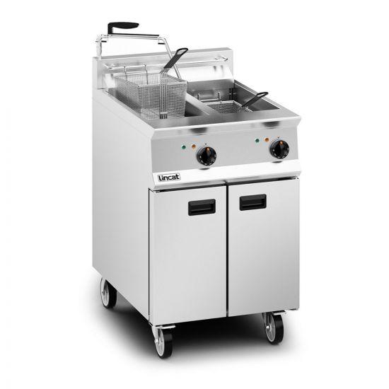Opus 800 Electric Free-standing Twin Tank Fryer With Pumped Filtration - 2 Baskets - W 600 Mm - 24.0 KW LIN OE8113-OP
