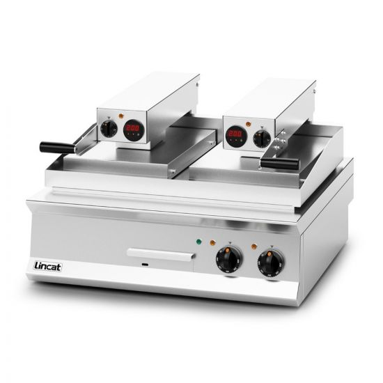 Opus 800 Electric Counter-top Clam Griddle - 1 X Flat Plate; 1 X Ribbed Plate - W 800 Mm - 17.2 KW LIN OE8210-FR