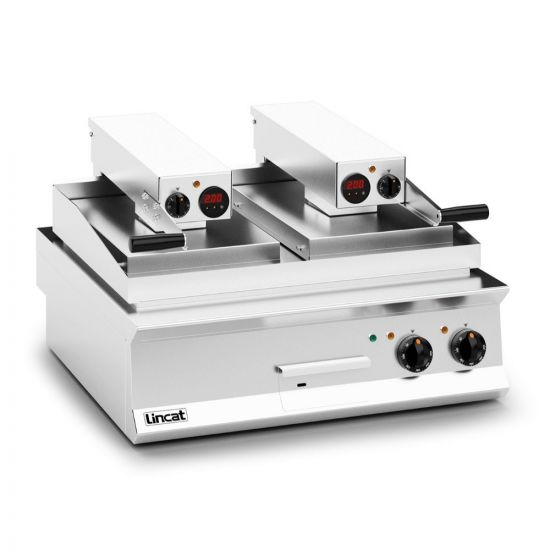 Opus 800 Electric Counter-top Clam Griddle - Ribbed Upper Plate - W 800 Mm - 17.2 KW LIN OE8210-R