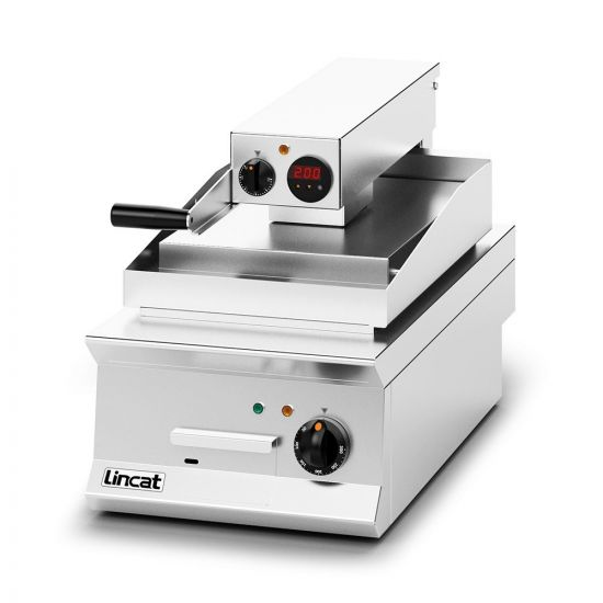 Opus 800 Electric Counter-top Clam Griddle - Ribbed Upper Plate - W 400 Mm - 8.6 KW LIN OE8211-R
