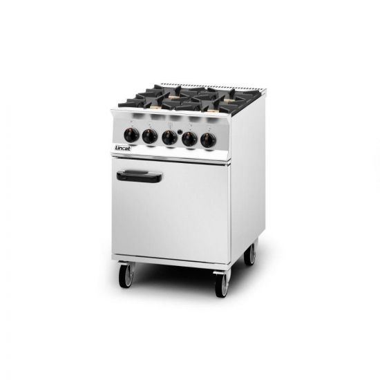 Opus 800 Natural Gas Free-standing Oven Range [R-Hand Door] - 4 Burners - W 600 Mm - 36.8 KW LIN OG8001-N-RHD