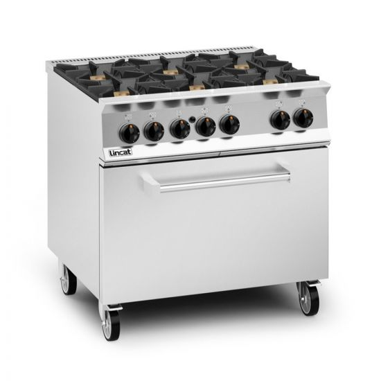 Opus 800 Natural Gas Free-standing Oven Range [Drop-Down Door] - 6 Burners - W 900 Mm - 55.0 KW LIN OG8002-N-DD