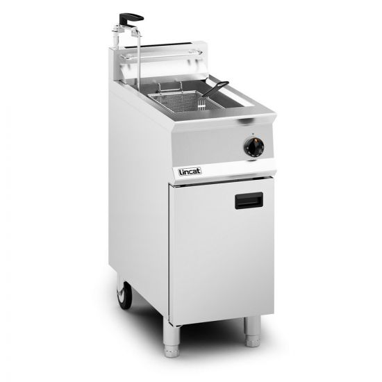Opus 800 Natural Gas Free-standing Single Tank Fryer With Pumped Filtration - 2 Baskets - W 400 Mm - 23.0 KW LIN OG8106-OP-N