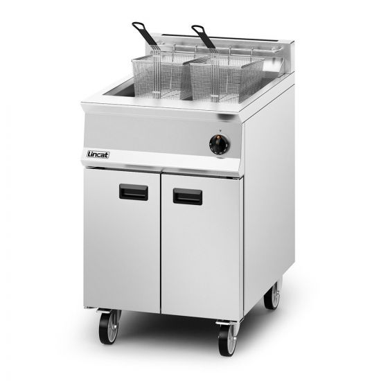 Opus 800 Propane Gas Free-standing Single Tank Fryer - 2 Baskets - W 600 Mm - 30.0 KW LIN OG8107-P