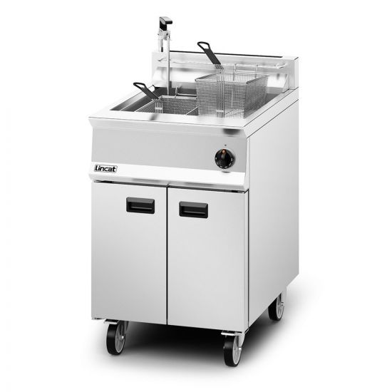 Opus 800 Natural Gas Free-standing Single Tank Fryer With Pumped Filtration - 2 Baskets - W 600 Mm - 30.0 KW LIN OG8107-OP-N