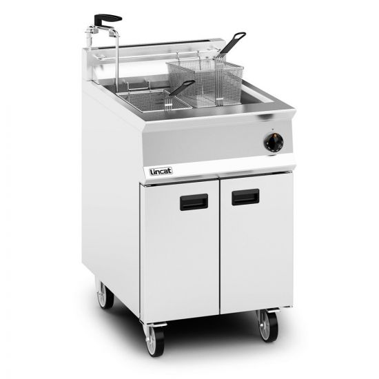 Opus 800 Propane Gas Free-standing Single Tank Fryer With Pumped Filtration - 2 Baskets - W 600 Mm - 30.0 KW LIN OG8107-OP-P