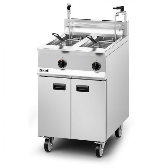 Opus 800 Propane Gas Free-standing Twin Tank Fryer With Pumped Filtration - 2 Baskets - W 600 Mm - 32.0 KW LIN OG8111-OP2-P