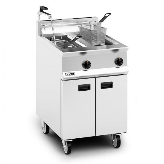 Opus 800 Natural Gas Free-standing Twin Tank Fryer With Pumped Filtration - 2 Baskets - W 600 Mm - 32.0 KW LIN OG8111-OP-N