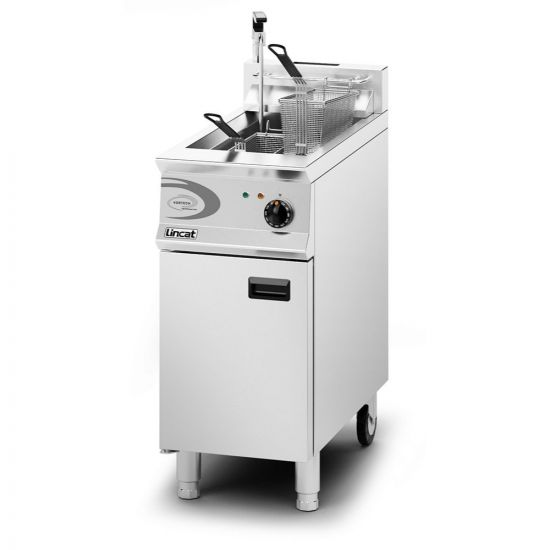 Opus 800 Natural Gas Free-standing Single Tank Fryer With Pumped Filtration - 2 Baskets - W 400 Mm - 22.0 KW LIN OG8115-OP-N