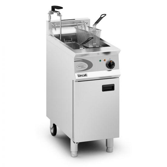 Opus 800 Propane Gas Free-standing Single Tank Fryer With Pumped Filtration - 2 Baskets - W 400 Mm - 22.0 KW LIN OG8115-OP-P