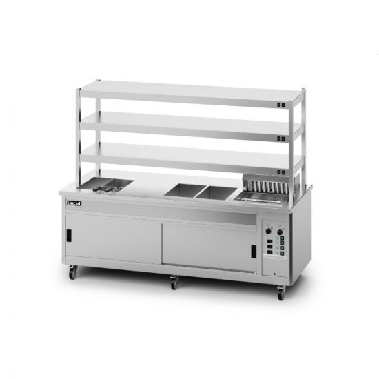 Panther SuperPass Series Free-standing Hot Cupboard - Bain Marie Top - W 2400 Mm - 16.52 KW LIN P10SP6PT