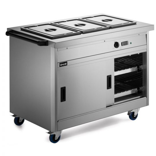 Panther 800 Series Free-standing Hot Cupboard - Bain Marie Top - 3GN - W 1205 Mm - 2.8 KW LIN P8B3PT