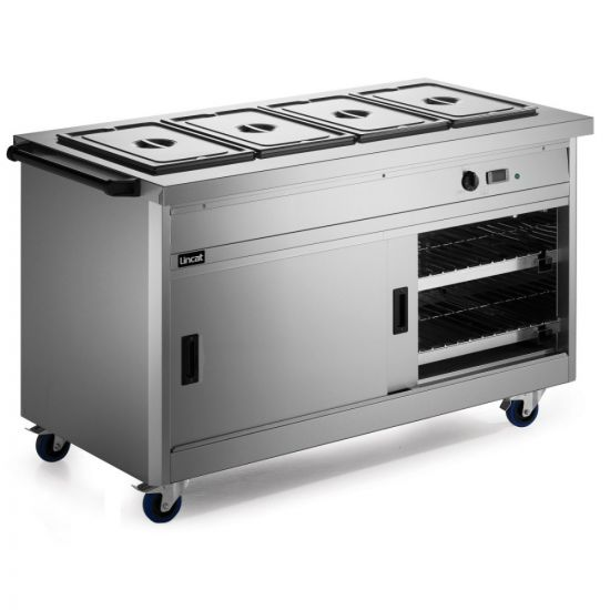 Panther 800 Series Free-standing Hot Cupboard - Bain Marie Top - 4GN - W 1530 Mm - 4.9 KW LIN P8B4