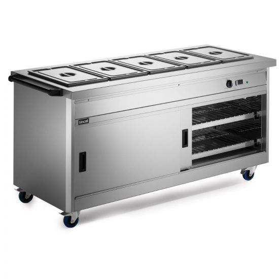 Panther 800 Series Free-standing Hot Cupboard - Bain Marie Top - 5GN - W 1855 Mm - 5.2 KW LIN P8B5