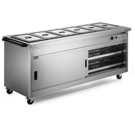 Panther 800 Series Free-standing Hot Cupboard - Bain Marie Top - 6GN - W 2180 Mm - 5.2 KW LIN P8B6PT