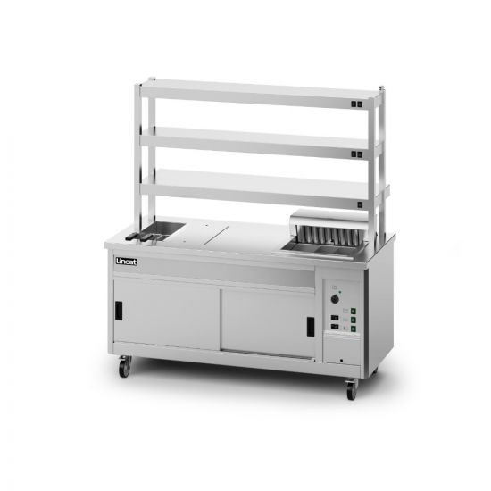 Panther SuperPass Series Free-standing Hot Cupboard - Bain Marie Top - W 1800 Mm - 11.62 KW LIN P8SP4PT