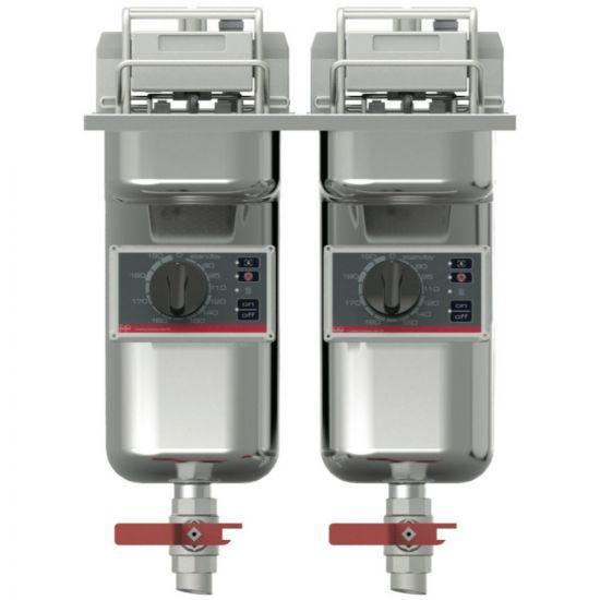FriFri Basic+ 422 Electric Built-in Twin Tank Fryer - 2 Baskets - W 400 Mm - 2 X 7.5 KW LIN SB42220-G700